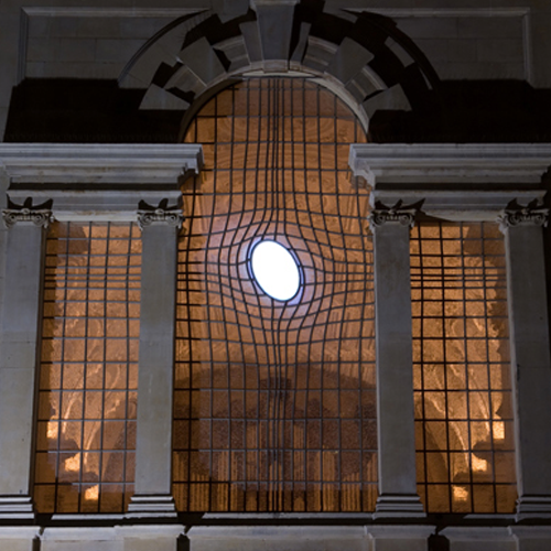 Light Projections at St Martin-in-the-Fields Church for Shirazeh Houshiary
