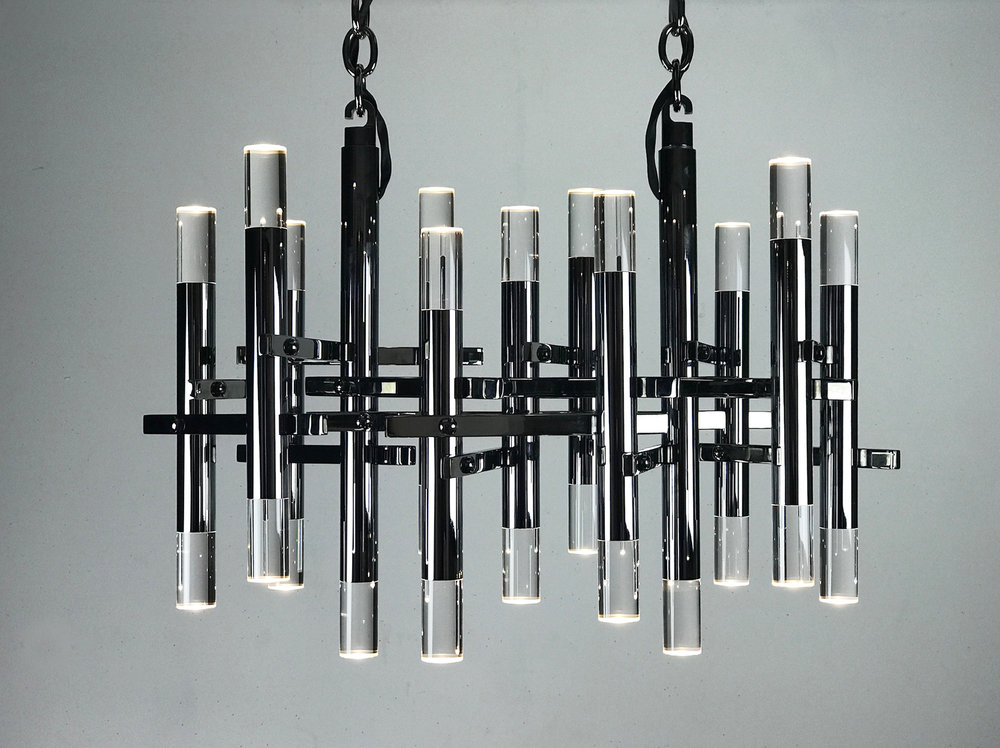 Tangential chandelier