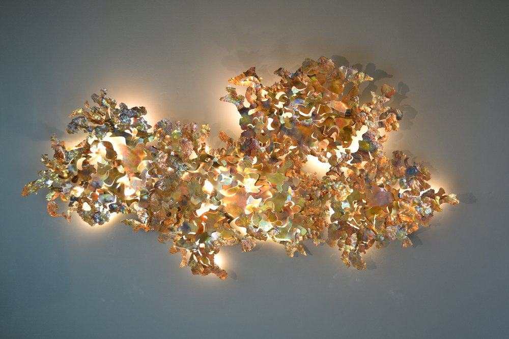 Copper Leaf wall light