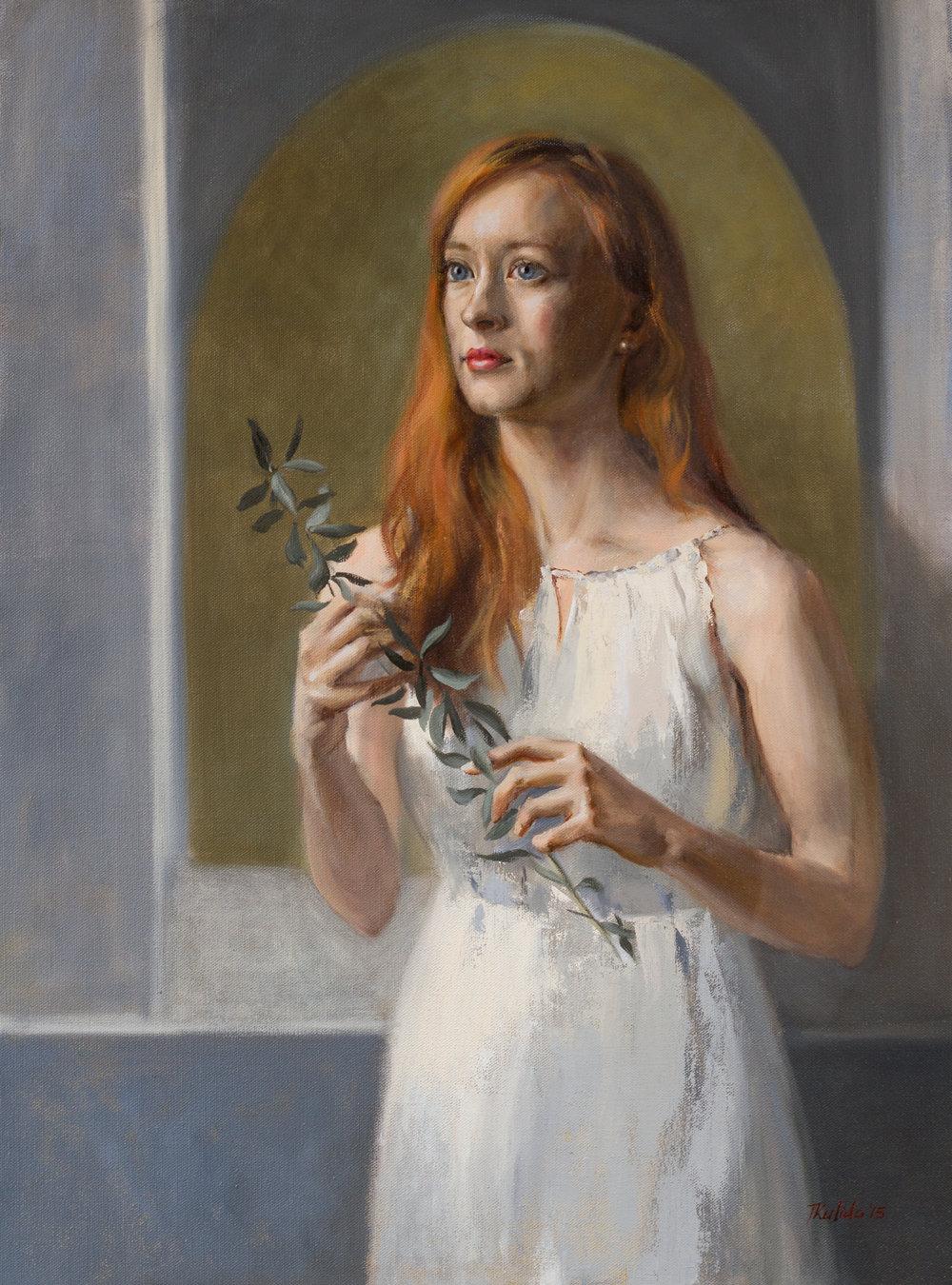 Dreaming of Peace,  oil on linen, 70x95,  framed, April 2015