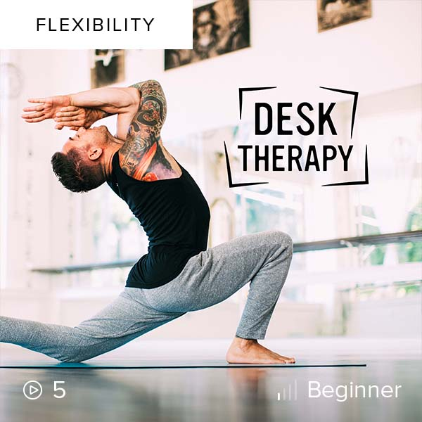 Desk Therapy    Increase mobility and flexibility in areas impacted by long periods of sitting so you can live a life filled with movement and activities that bring you joy.
