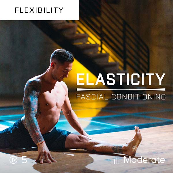Elasticity: Fascial Conditioning    Dramatically increase your range of motion, athleticism, and mobility by conditioning your fascia into supple, reactive bands.