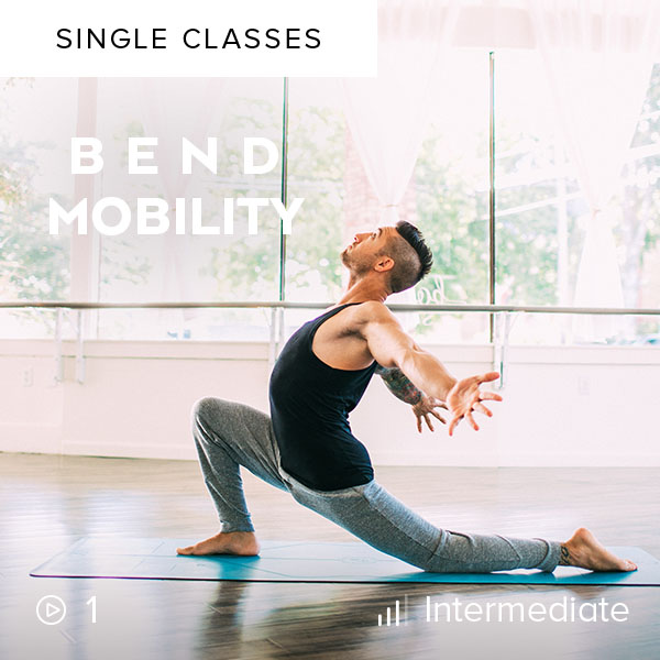 Bend Mobility    Open up in this gentle, theraputic flow that will leave you feeling stretched, centered, and balanced.