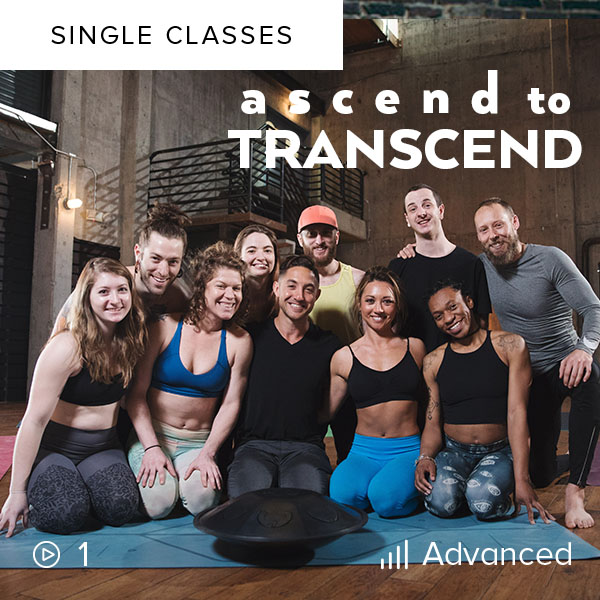 Ascend to Transcend    Test your strength and balance, awaken your consciousness, and uplift your spirit in this powerful 2 1/2 hour Vinyasa flow.
