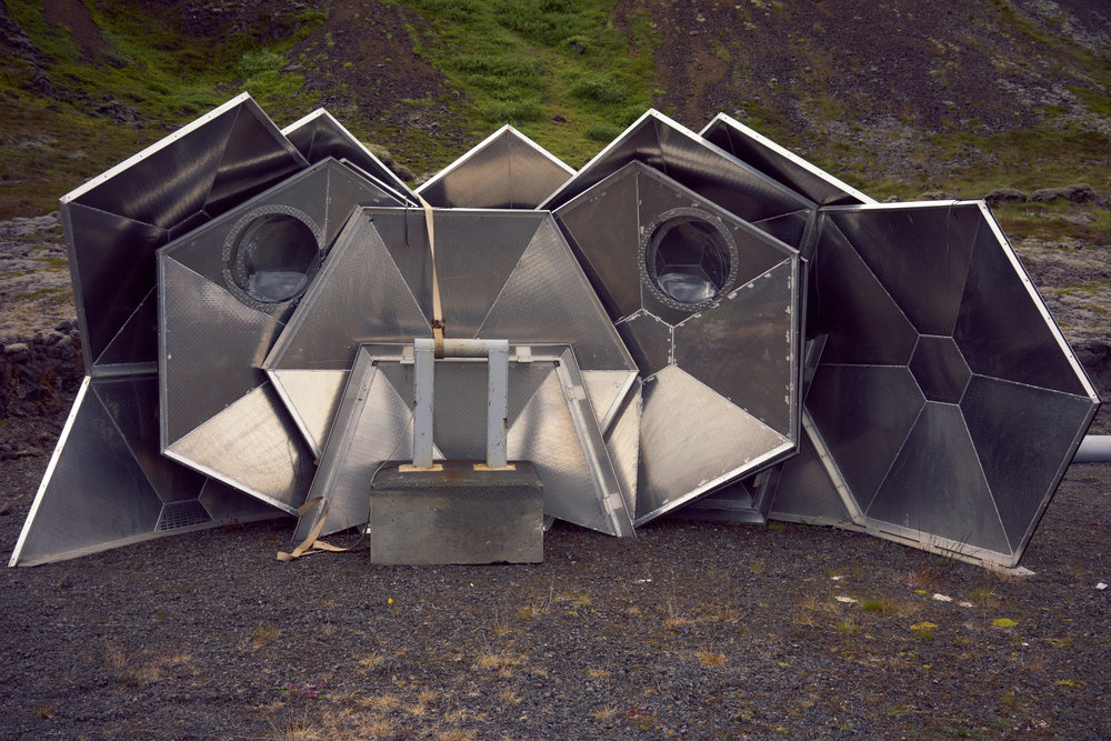 deconstructed metal igloo