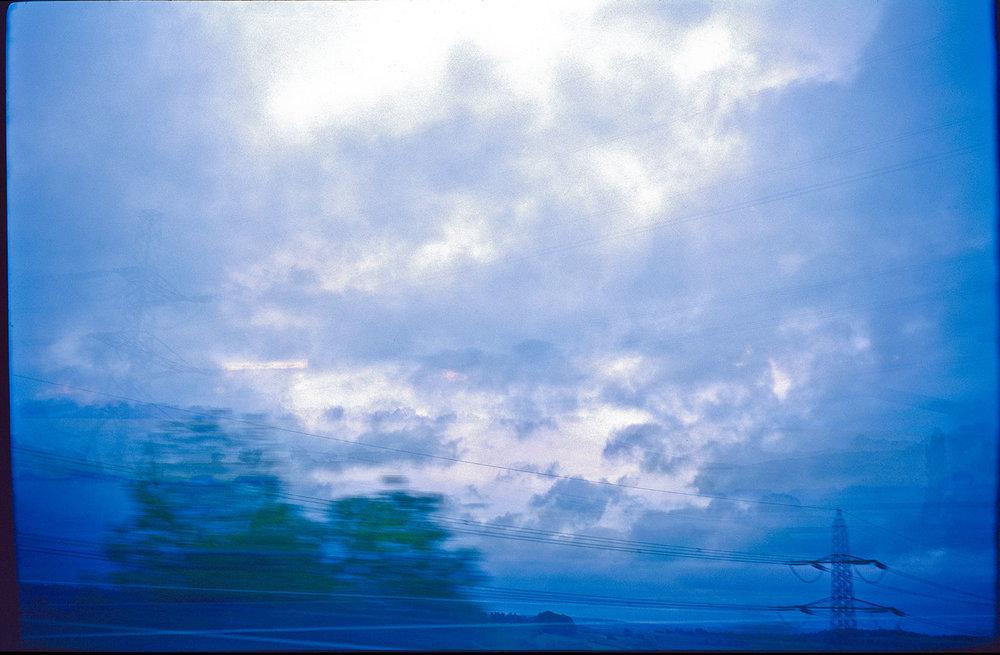 cloudy train