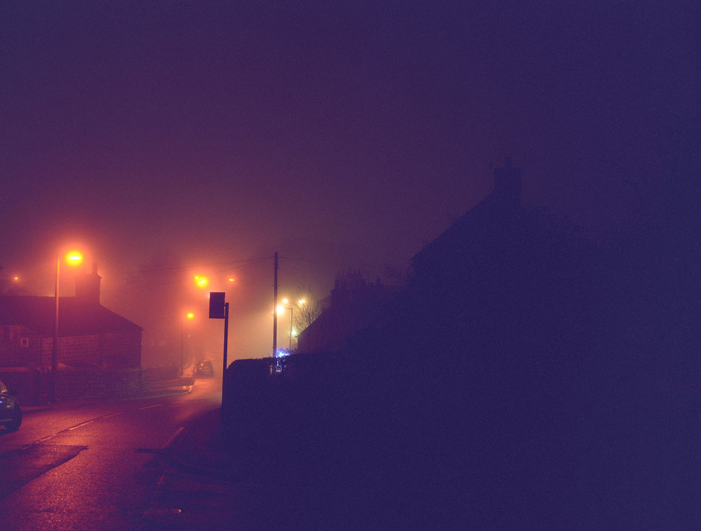 a misty night - a.