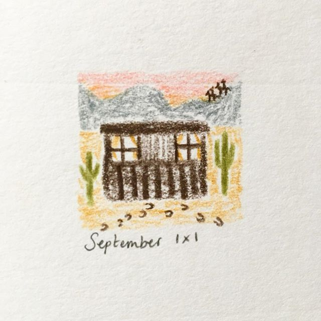 #drawingaday 1x1 September challenge #johnvernonlord @illustrationhq