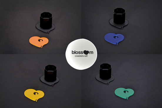 And a few shopping tips: The 'Blossom' sets consist of four coasters of the same colour, but if you'd like to combine different colours in your set, it is possible in all shops. You can pick any four of the six colours if you'd wish.