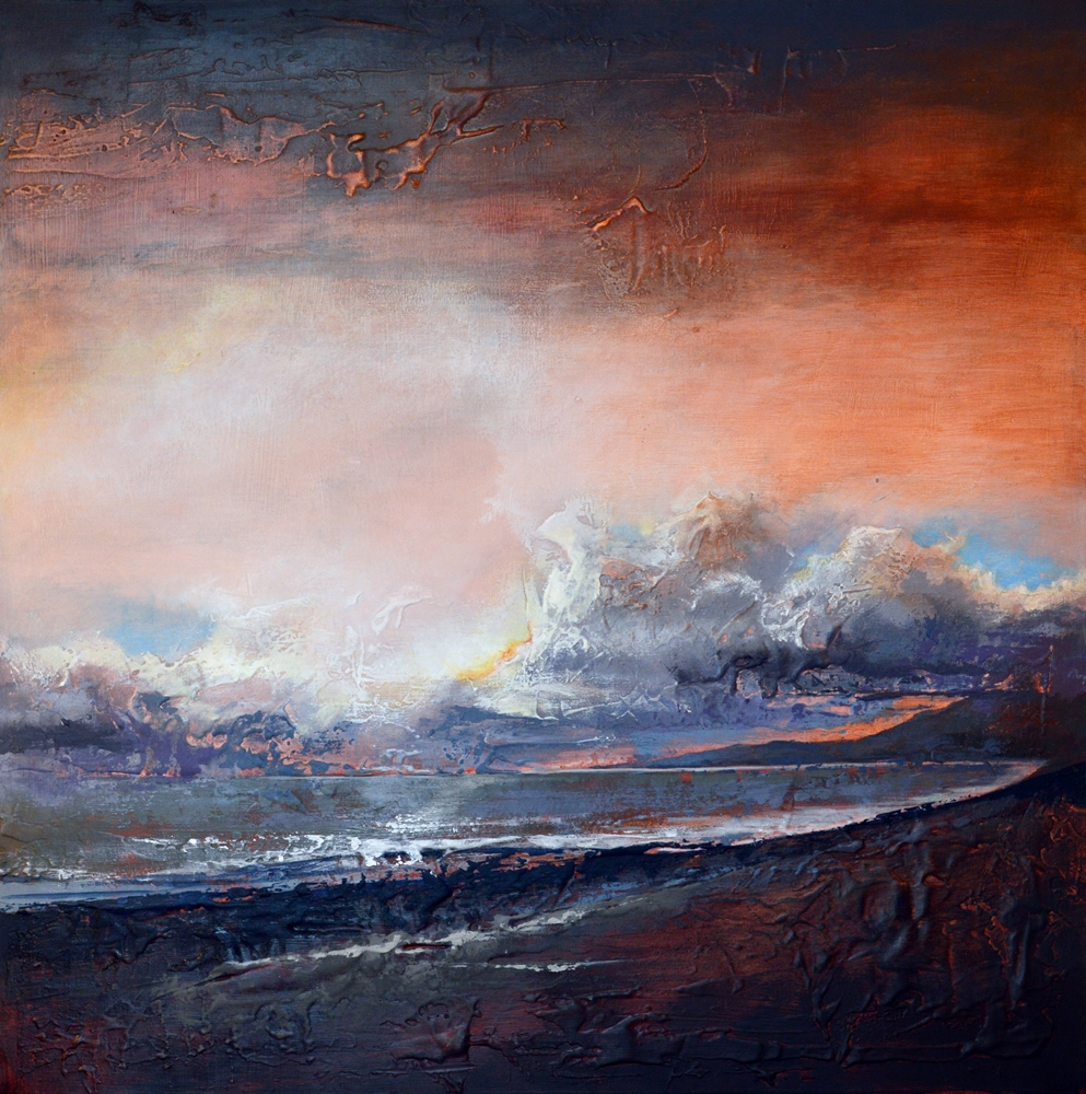 'Storm at Sunset'     SOLD