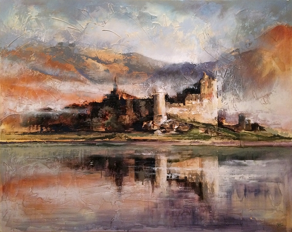 'Castle on the Lake'  COMMISSION