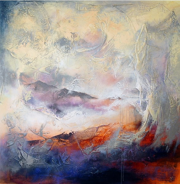 'Firey Mountain Stormy Sky'   SOLD