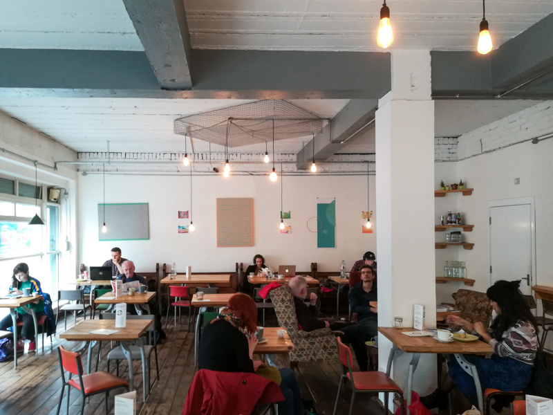 Interior of Little Man Coffee, Cardiff