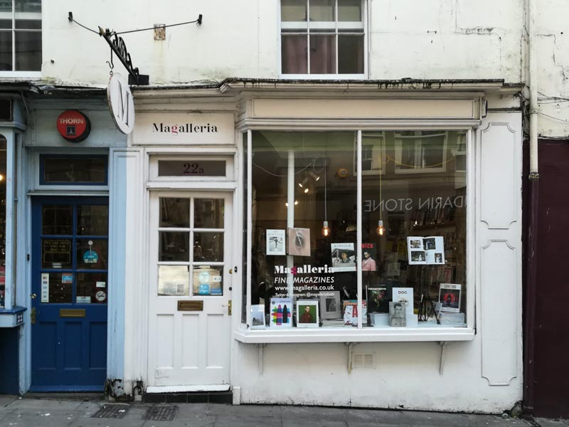 Exterior of Magalleria in Broad Street, Bath