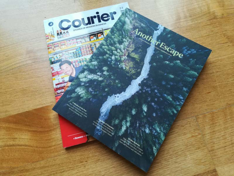 Another Escape and Courier, independent magazines from Magalleria