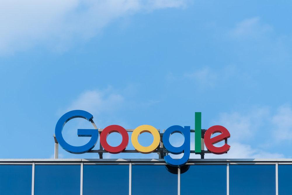 Sign displaying Google logo