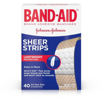 Assorted Sizes Of Band Aids