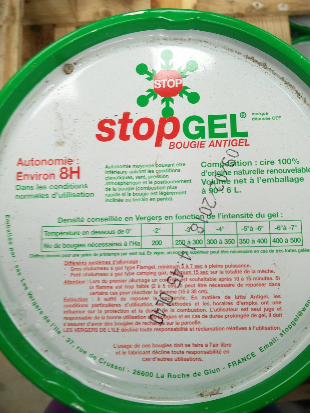 Our Stopgel candles are stocked and ready to be used for Spring frost protection
