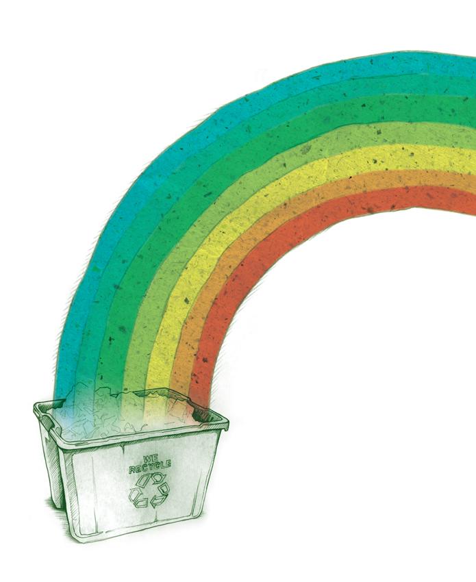 Rainbow Bin