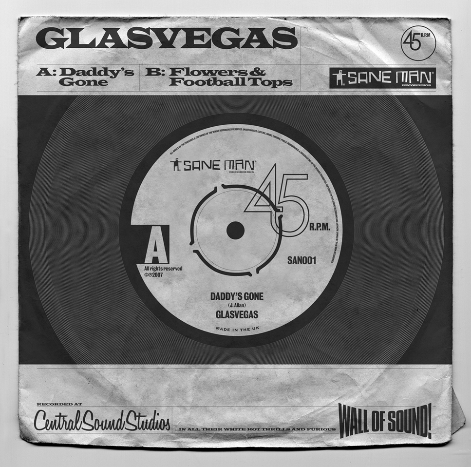 "Glasvegas ""Daddy's Gone"" sleeve"