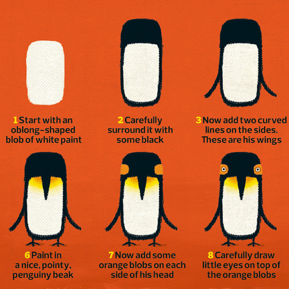 How to paint a penguin
