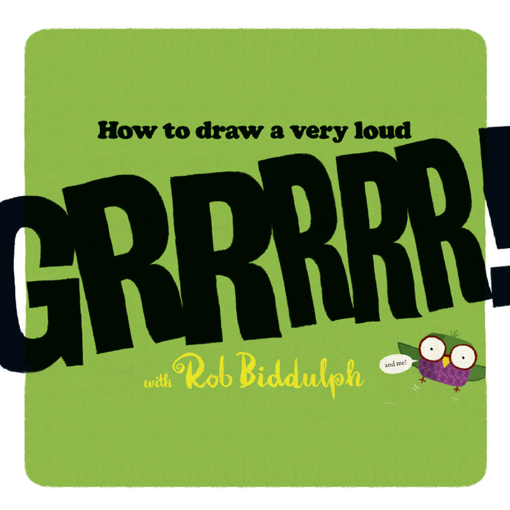 How to draw a very loud GRRRRR!