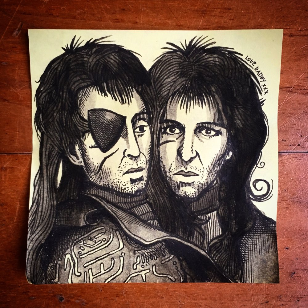 Zaphod Beeblebrox (from The Hitchhikers Guide to the Galaxy