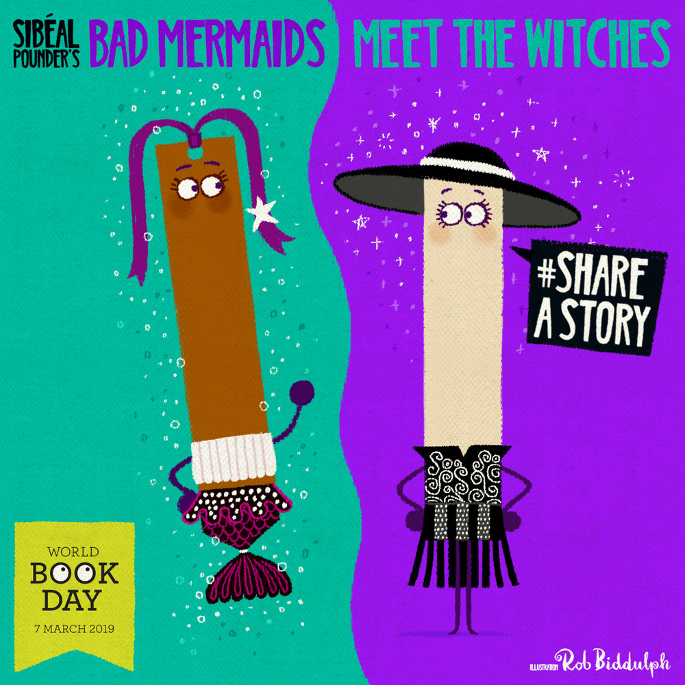 Bad Mermaid and Witch Wars Bookmarks