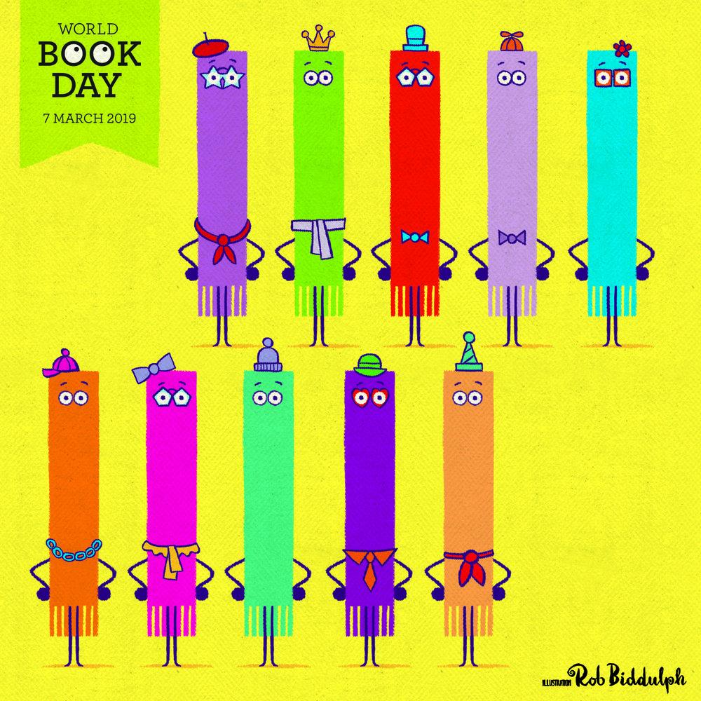 Ten Little Bookmarks