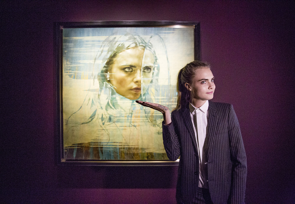Cara Delevingne shows off her portrait