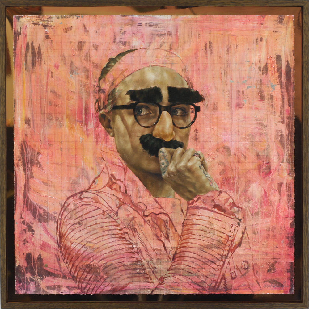 Cara Study XII (Groucho) Print Framed 1.JPG