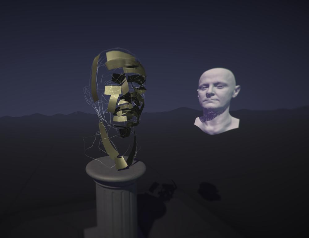 Tilt Brush sculpture in progress with artists's head render.png