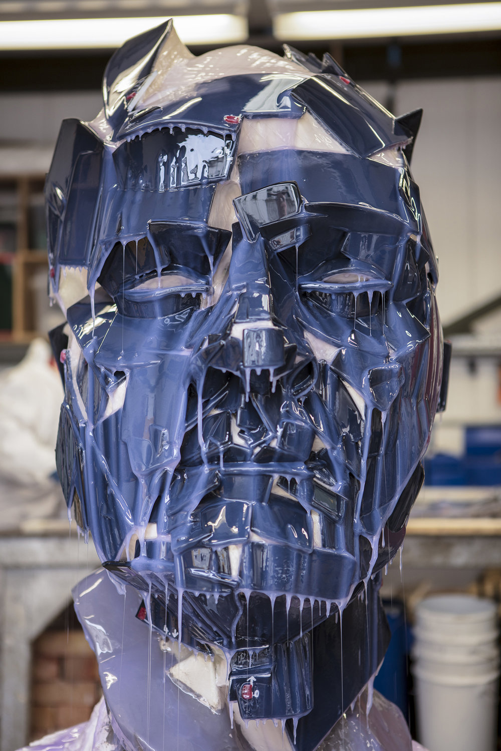 Jonathan Yeo sculpture being prepared for moulding processes.jpg