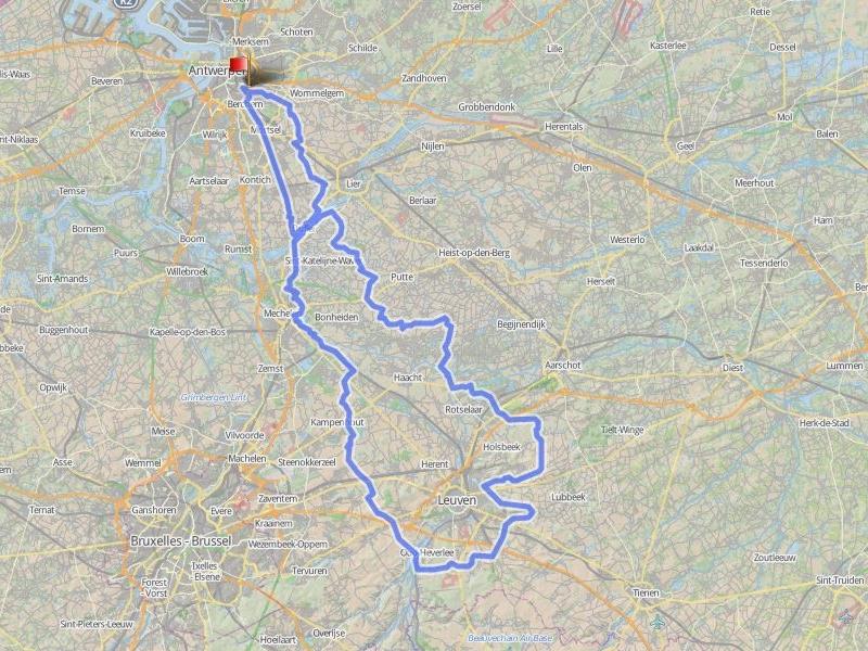148 km - ZOETE WATERS - GROEPEN >15Rondje rond Leuven langs het mooie Meerdaalwoud met haar Zoete Waters.Heiberg, Blokkenstraat,...zijn van de partij.