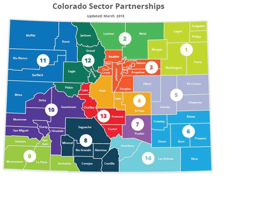 Over 20 sector partnerships spanning all 14 economic development regions of the state.