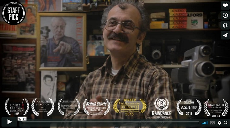 Umit in the brilliant short film 'The Way of the Dodo' from Cine-Real co-founder Liam St-Pierre