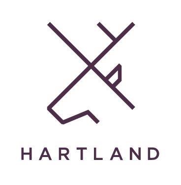 Hartland Communications. Branding by WHAT associates Ltd