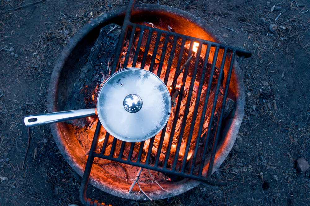 Cooking on the cheap in Grand Teton National Park, Wyoming.
