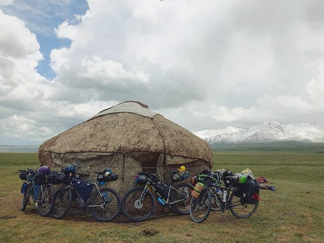 The Kyrgyz yurt is a little like the Weasley family tent: looks fairly small from the outside, but surprisingly spacious and comfortable once inside the dome. ⛺