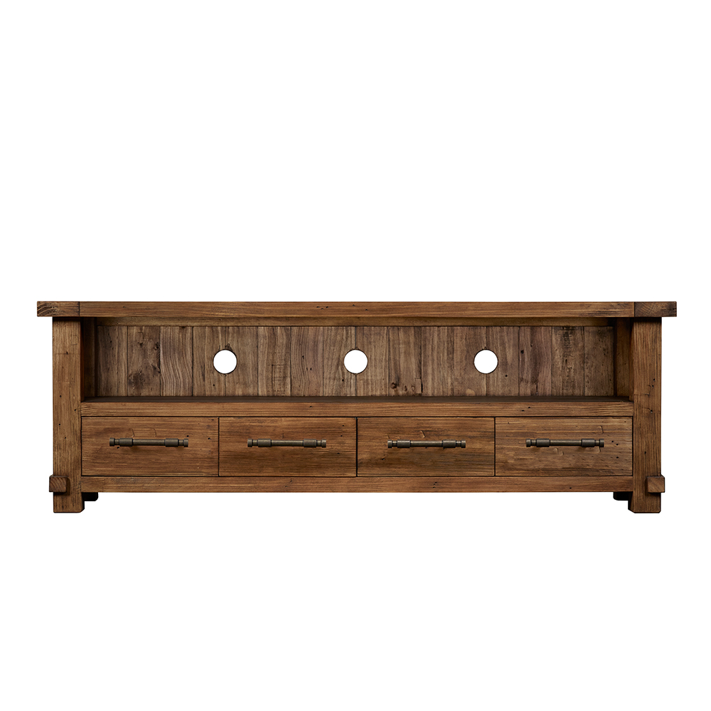 Industrial 4 Drawer TV Cabinet