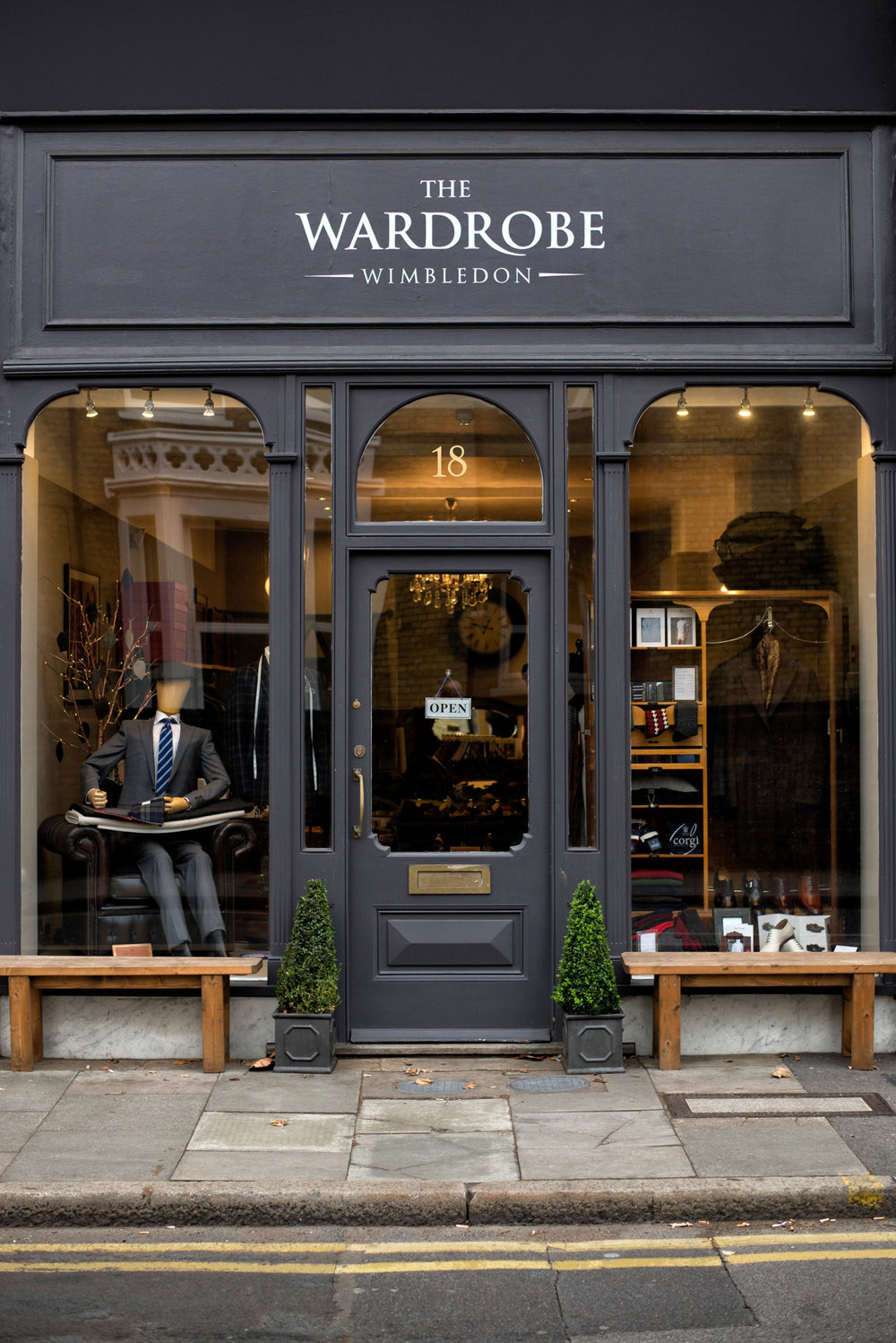 £100 gift voucher from The  Wardrobe Wimbledon , the high-end gentleman's bespoke suits and clothing retail outlet on Ridgway in the Village, and one of the few independent men' clothing shops in London. Old-world service and luxurious vibe