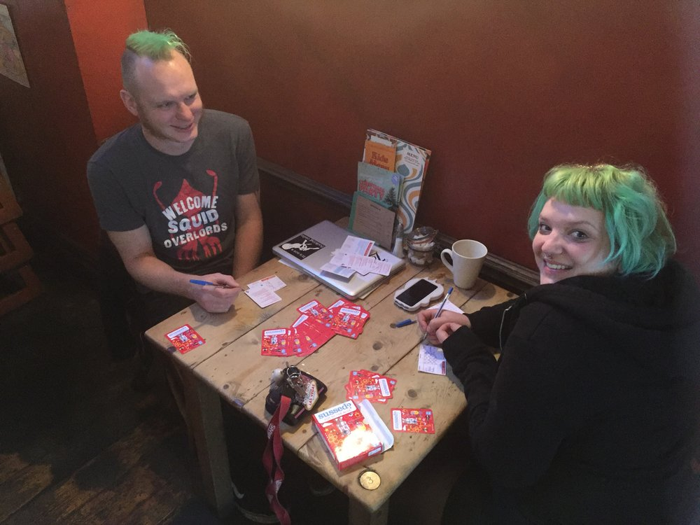 Squid Overlords and all customers are welcome to play the new Sussed Out Of The Blue conversation quiz game at Banco Lounge, Bristol.Watch out for more info on Banco Lounge when we launch our list of Great Conversation Locations on 1st December!