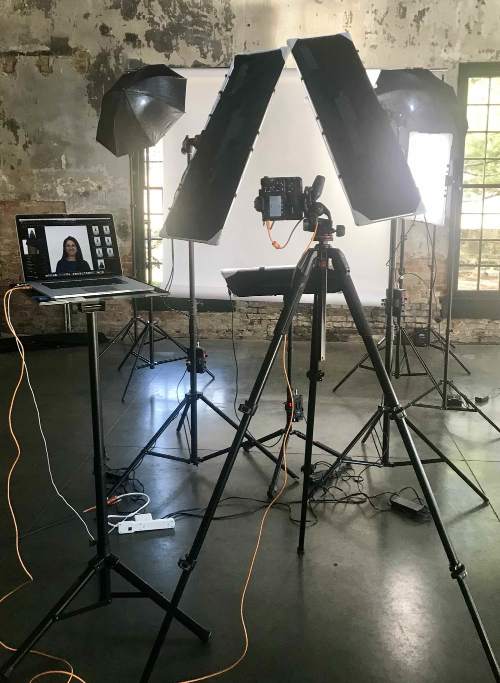 ON LOCATION VOLUME HEADSHOT SESSION - Full Day - 8 hours $1800Half Day - 4 hours $900