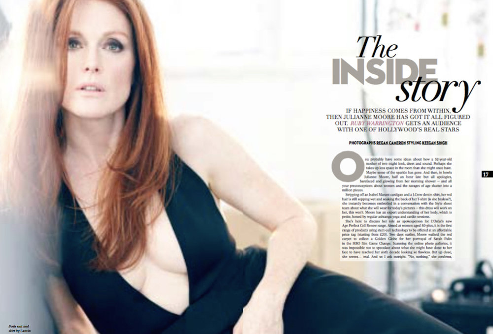 Julianne Moore interview, Sunday Times Style