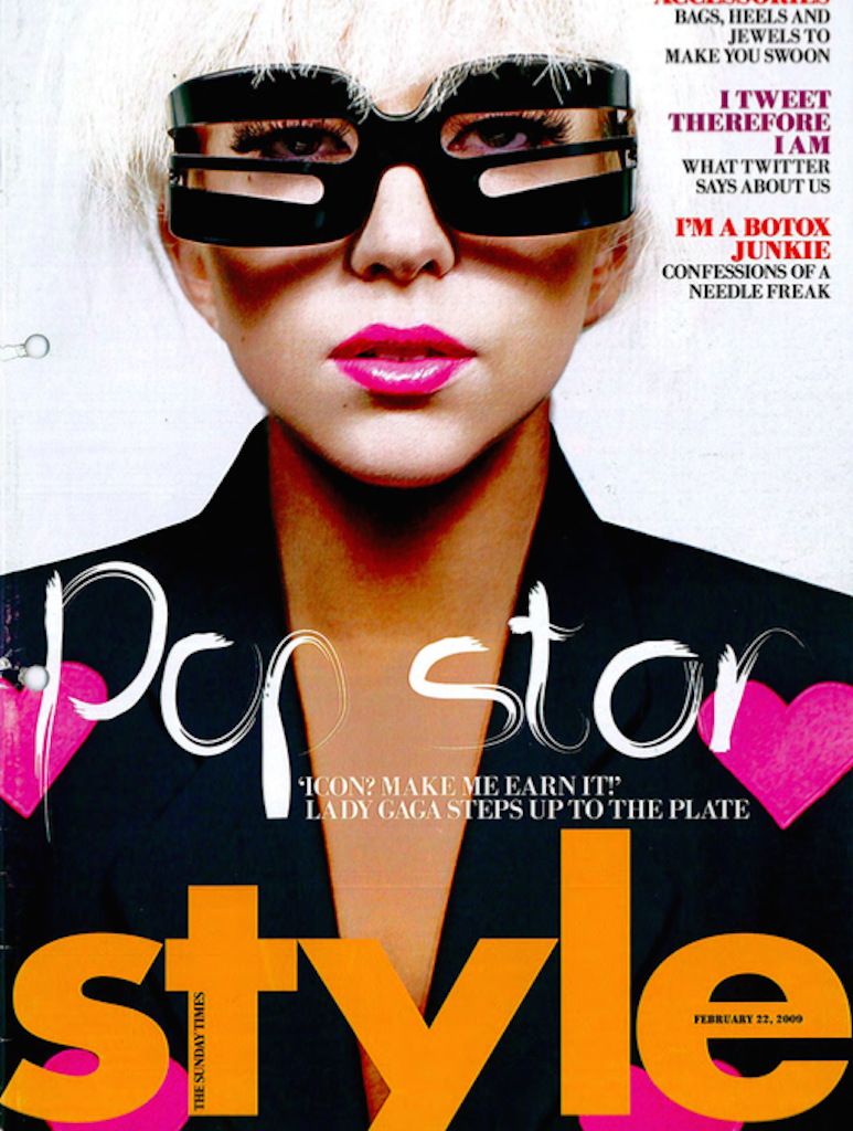 Lady Gaga interview,  Sunday Times Style