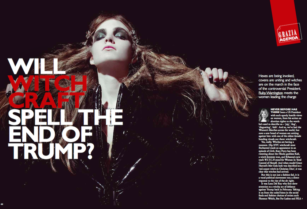 Witches against Trump,  Grazia magazine