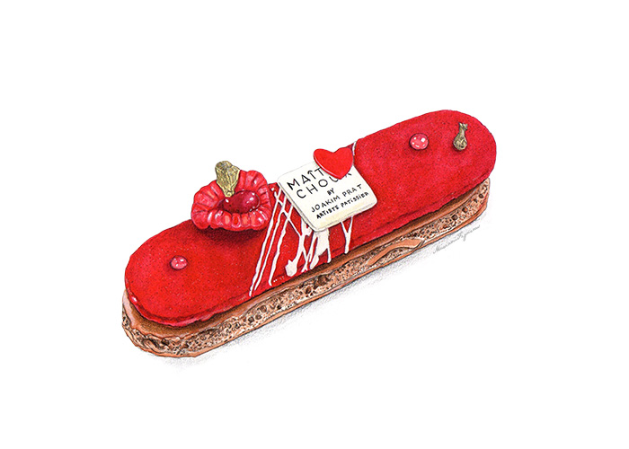 Illustration of Maître Choux's Red Love Eclair.
