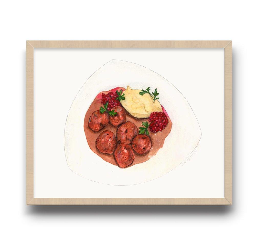 Giclée art print showcased in the restaurant.
