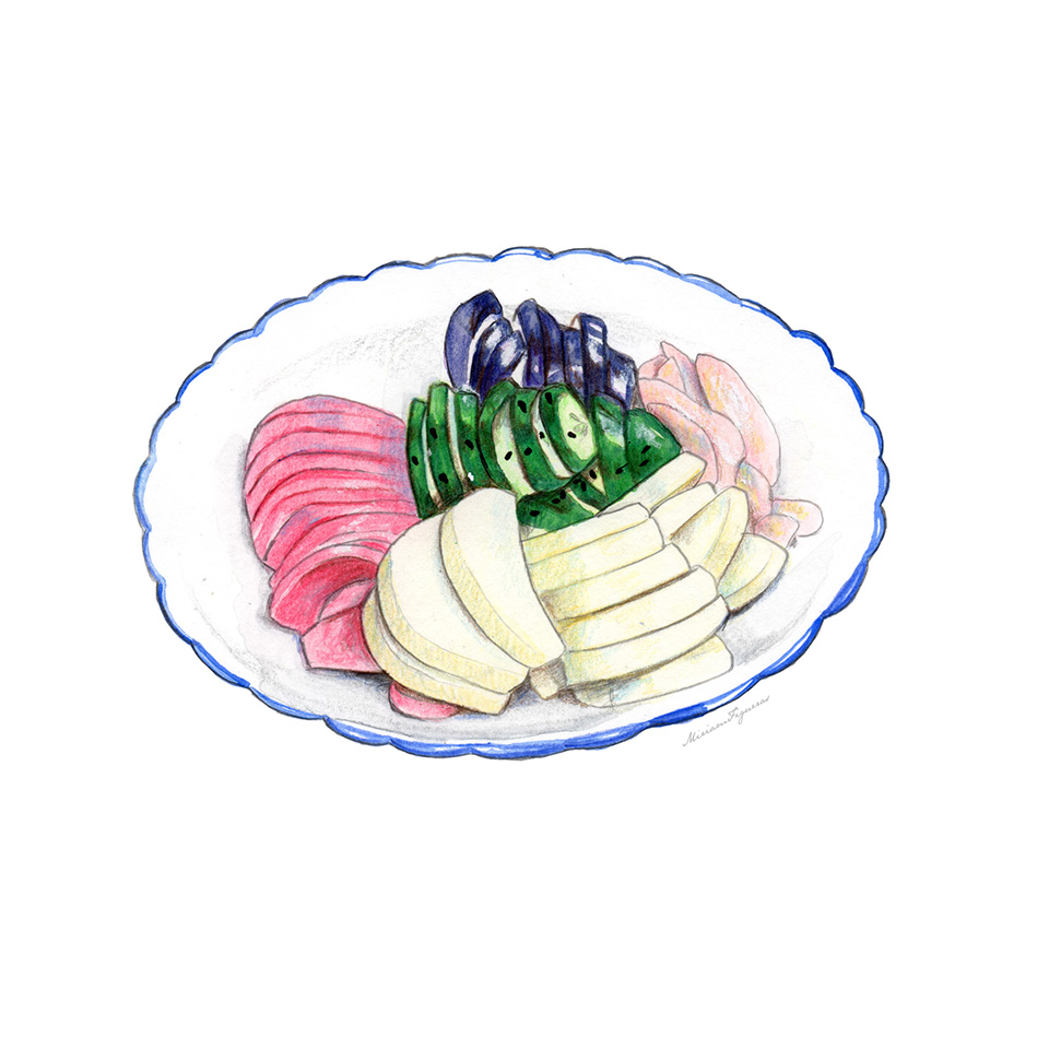 Tsukemono (pickled food).