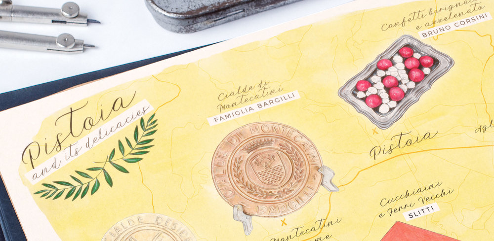 Culinary and Food Map Illustrations